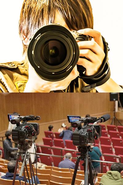 写真とビデオ撮影画像